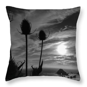 Silhouette Beach  Throw Pillow