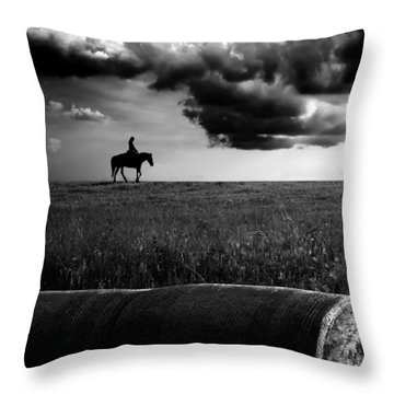 Silhouette Bw Throw Pillow