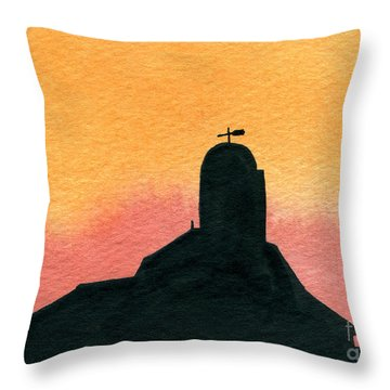 Silhouette Farm 1 Throw Pillow