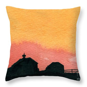 Silhouette Farm 2 Throw Pillow