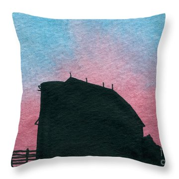 Silhouette Farm Number 1 Throw Pillow