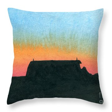 Silhouette Farmstead Throw Pillow