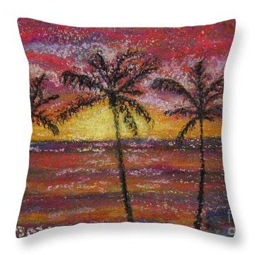 Island Silhouette  Throw Pillow