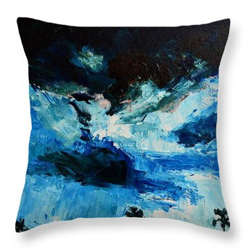 Silhouette Of Nature II Throw Pillow by Patricia Awapara