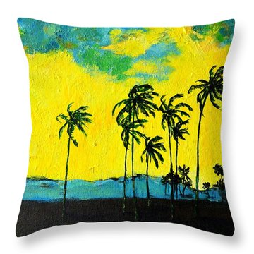 Silhouette Of Nature Throw Pillow