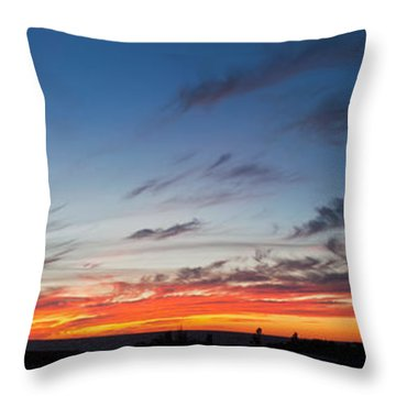 Silhouette Of Trees At Sunset, Todos Throw Pillow
