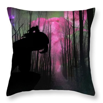 Woman Lost  Throw Pillow