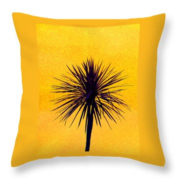 Silhouette On Gold Throw Pillow