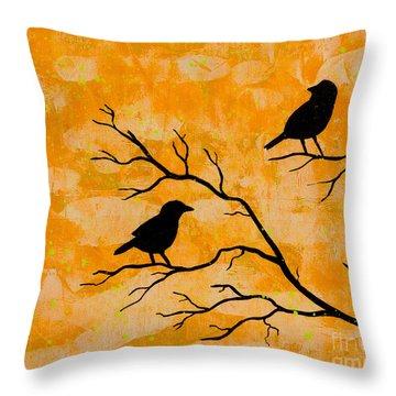 Silhouette Orange Throw Pillow