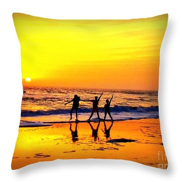 Silhouettes And Shadows Throw Pillow