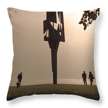 Silhouettes I Throw Pillow