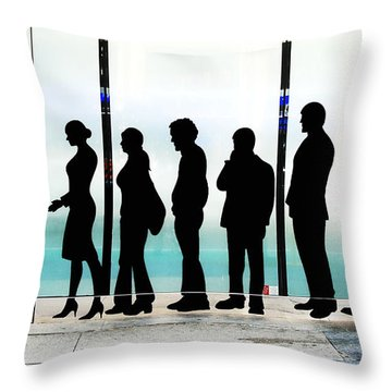 Silhouettes On Broadway Throw Pillow by Allen Beatty