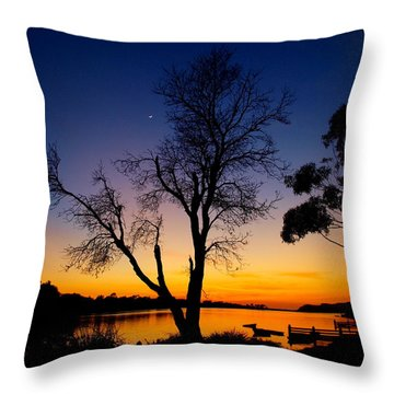 Throw Pillow featuring the photograph Silhouettes by Trena Mara
