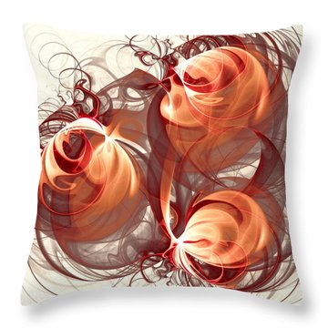 Silk Labyrinth Throw Pillow by Anastasiya Malakhova