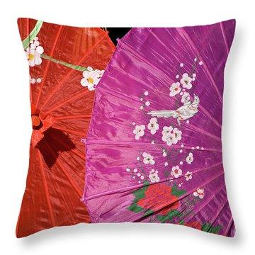 Silk Parasols 01 Throw Pillow