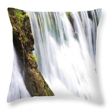Silk Ribbons Throw Pillow