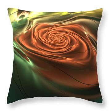 Silk Rose Throw Pillow