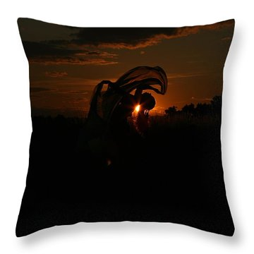 Silk Sunset Throw Pillow