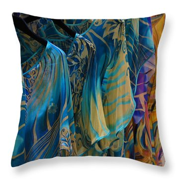 Silk Tops Throw Pillow by Debi Demetrion