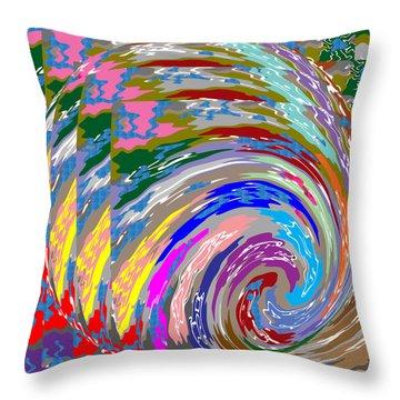 Colorful Fineart Silken Spiral Waves Pattern Decorative Art By Navinjoshi At Fineartamerica.com Throw Pillow