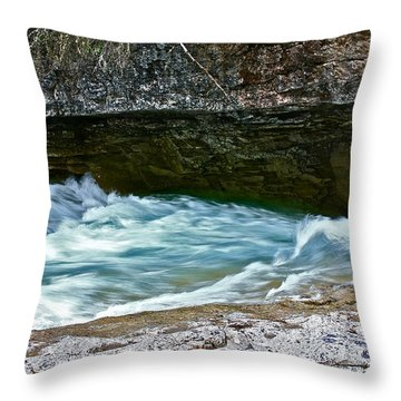 Throw Pillow featuring the photograph Silky Flow by Linda Bianic