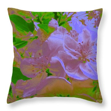 Silky Pink Crabapple Throw Pillow