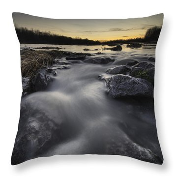 Silky River Throw Pillow by Davorin Mance