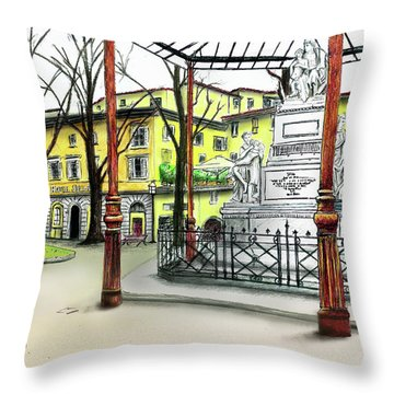 Silla Hotel Piazza Demidoff Florence Throw Pillow