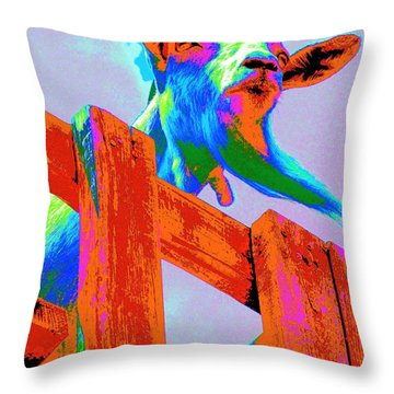 Throw Pillow featuring the photograph Silly Billy In Many Colors Photo Impressionism by Annie Zeno