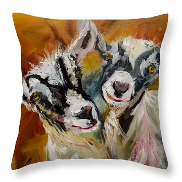Silly Kids Throw Pillow