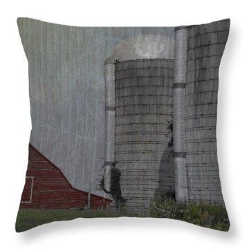 Silo And Barn Throw Pillow