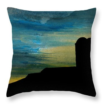 Silos At Dusk Throw Pillow by R Kyllo