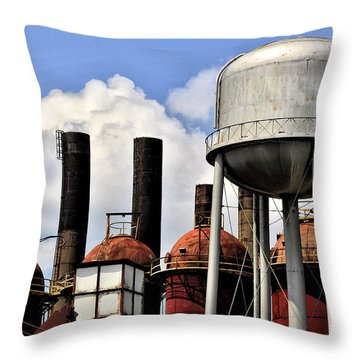 Throw Pillow featuring the photograph Silos In The Sky by Davina Washington