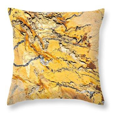 Siltstone Abstract Throw Pillow by Karon Melillo DeVega