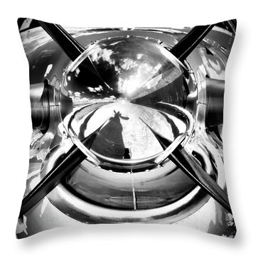 Silver 12 Throw Pillow by Paul Job