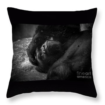 Deep In Thought Of Freer Times Throw Pillow