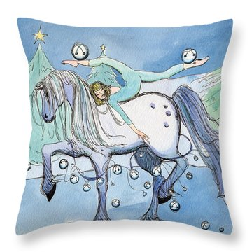 Silver Belles Throw Pillow by Katherine Miller