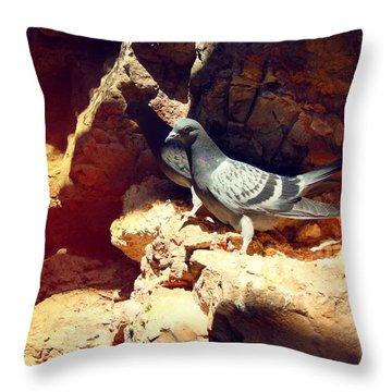 Silver Birds Throw Pillow