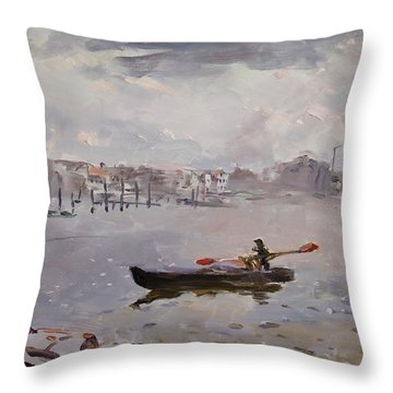 Fishing Boat Throw Pillows