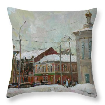 Silver Day Throw Pillow