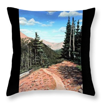 Silver Dollar Trail Colorado Throw Pillow
