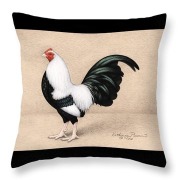 Silver Duckwing Old English Game Bantam Throw Pillow