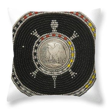 Silver Eagle Throw Pillow