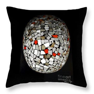 Silver Egg Throw Pillow