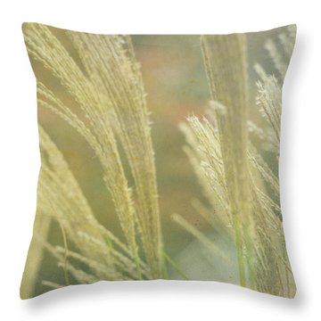 Silver Grass Throw Pillow
