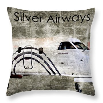 Silver Instrument Panel Throw Pillow by Diane E Berry