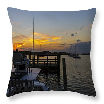 Silver Lake Sunset Panorama Throw Pillow by Greg Reed