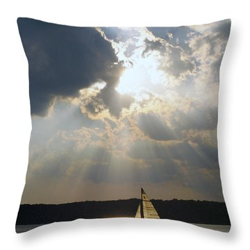 Silver Lining - Lake Geneva Wisconsin Throw Pillow