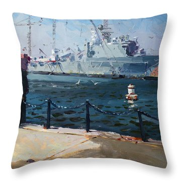 Silver Morning Throw Pillow