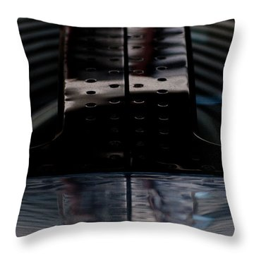 Silver Throw Pillow by Paul Job